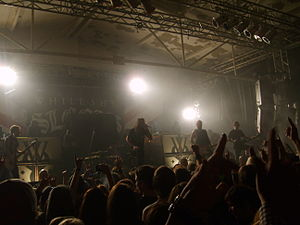 While She Sleeps - The band performing in Cologne in 2013