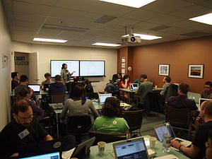 The Open Government WikiHack in progress. View more pictures of the event»