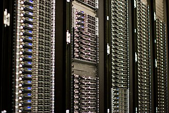 Web server - Multiple web servers may be used for a high traffic website; here, Dell servers are installed together being used for the Wikimedia Foundation.