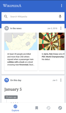 Wikipedia Android App main page.png