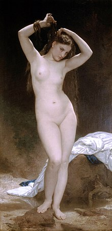 La Baigneuse, dipinto di William Bouguereau, 1870