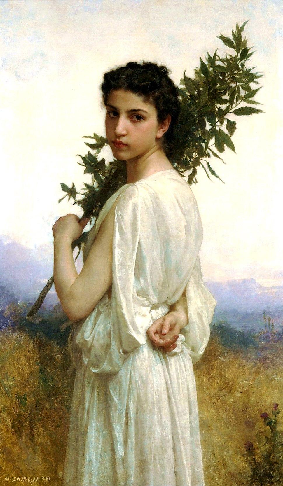 William-Adolphe Bouguereau (1825-1905) - Laurel Branch (1900)
