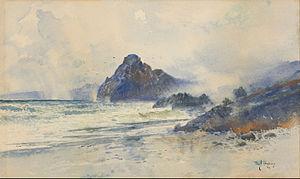 W. M. Hodgkins - A wet day on a wild coast, 1894 by William Mathew Hodgkins