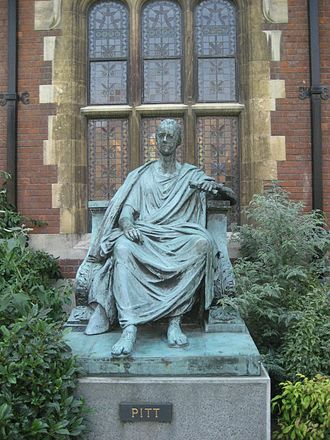 William Pitt the Younger - Statue of Pitt at Pembroke College, Cambridge, his alma mater