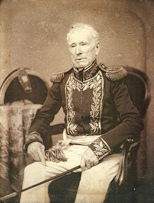 William Brown (admiral) - Daguerreotype of an old Brown in his military uniform.