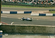 Jacques Villeneuve driving the FW19 at the 1997 British Grand Prix