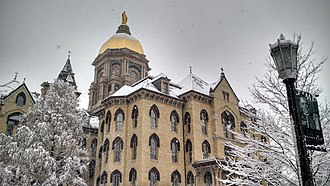 Main Building (University of Notre Dame) - Image: Winter Dome