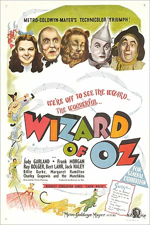 1939 in music - Poster for The Wizard of Oz