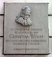 Gedenktafel in Breslau (Quelle: Wikimedia)