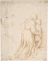 Woman and Child Kneeling (recto); Head of Child (verso) MET DP807713.jpg