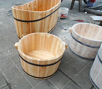 Bathtub - Wooden bathtubs for children and infants in Haikou, Hainan, China