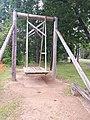 Wooden swing in Värska, Estonia.jpg