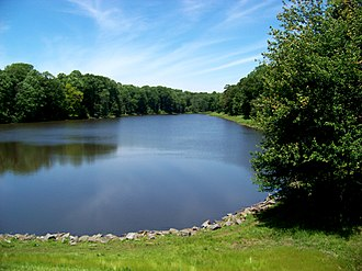 Fairfax Station, Virginia - Woodglen Lake is located in the CDP
