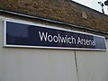 Woolwich Arsenal stn old signage.JPG