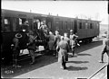 Wounded German prisoners boarding a train, Louvencourt, France (21069094773).jpg