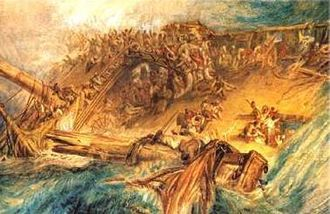 Halsewell (East Indiaman) - Image: Wreck of the Halsewell by Turner