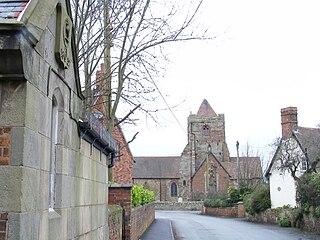 Wrockwardine village in the United Kingdom