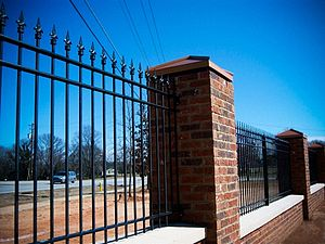 English: An ornamental iron fence built for th...