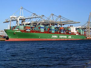 Xin Beijing IMO 9314246 p2, at the Amazone harbour, Port of Rotterdam, Holland 01-Jan-2008.jpg