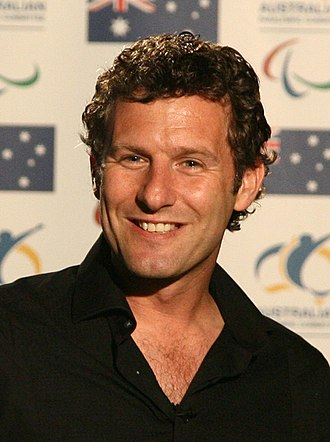 Adam Hills - Hills during the 2008 Beijing Paralympics