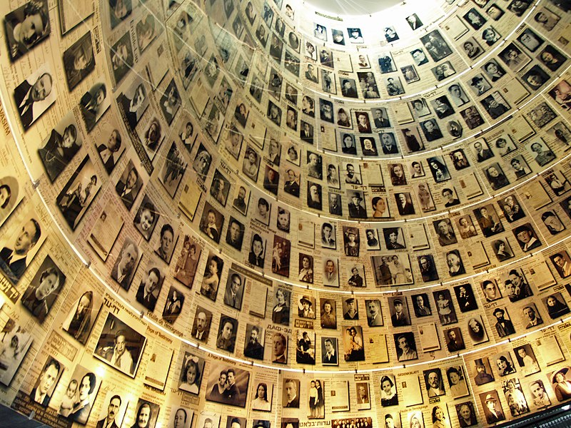 The Hall of Names containing Pages of Testimony commemorating the 6 million Jews who perished in the Holocaust. Photo credit: David Shankbone