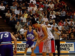 Houston Rockets - Yao Ming during his rookie season with the Rockets.