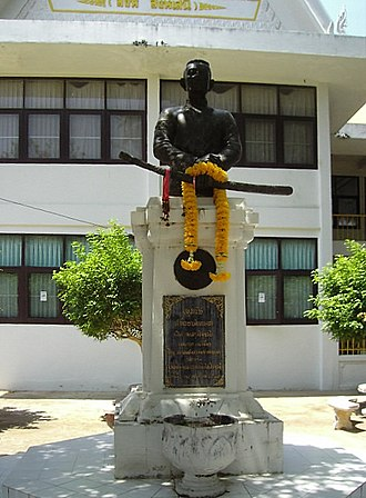 Yasothon - Monument to Gen. Singh at Wat Phra That Anon