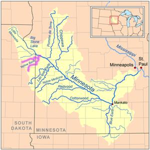 Yellow Bank River - Image: Yellowbankrivermap