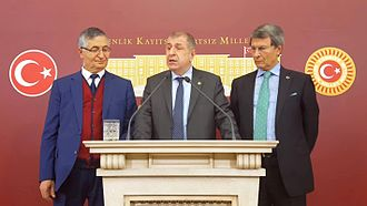 Turkish constitutional referendum, 2017 - MHP MPs Özcan Yeniçeri, Ümit Özdağ and Yusuf Halaçoğlu announcing their opposition to the proposed constitutional changes