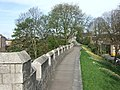 York city wall, approaching Micklegate Bar - geograph.org.uk - 407797.jpg