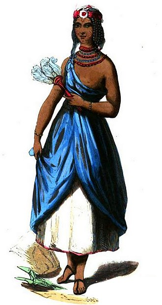 Kanem–Bornu Empire - Young woman from Bornu, mid 19th century