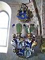 Ytterjärna kyrka, vapen, huvudbaner för Erik Adolf Sparre, död 1690, 2019.jpg