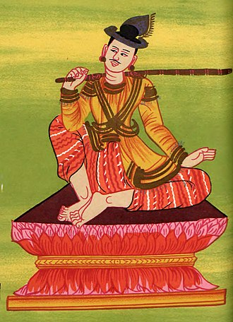 Bayinnaung - King Mekuti represented as Yun Bayin, Burmese nat