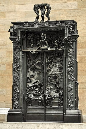 Dante Alighieri and the Divine Comedy in popular culture - Rodin's The Gates of Hell, Musée Rodin.
