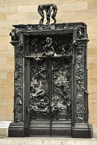 The Kiss (Rodin sculpture) - The Gates of Hell, sculpture by Rodin, where the concept for the sculpture originated.