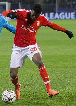 Nélson Semedo - Semedo playing for Benfica in the UEFA Champions League
