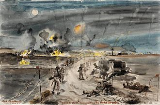 Battle of the Mareth Line - Image: Zero Hour the Mareth Offensive, 1943. Cameron Highlanders Art.IWMARTLD3398
