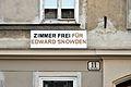 Zimmer frei für Edward Snowdon, Toßgasse 11, Vienna.jpg