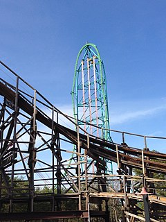 Zumanjaro: Drop of Doom drop ride at Six Flags Great Adventure in Jackson, New Jersey