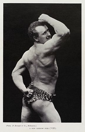 """A New Sandow Pose (VIII)"", Eugen Sandow Wellcome L0035270 - restoration.jpg"