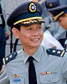 (Cropped 全子瑞中將) Lieutenant General Chuan Tzu-jui, Commander of ROCA Hualien & Taitung Defence Command Guide Veteran Chu Yuan-Chin to Ground for Photograph 20150704.jpg