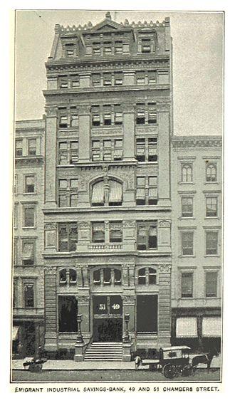 Emigrant Industrial Savings Bank building - Earlier building, same bank, same site