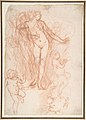 (R.)Figure Studies- Standing Nude Figure, Putti, and a Man's Head (V.) Figure Studies- A Flying and a Standing Man MET DP808251.jpg