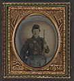 (Unidentified soldier in Union uniform of the 56rd New York Volunteers (10th Legion) with musket and sword) LOC 5228569795.jpg