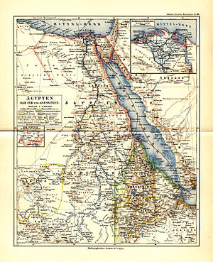 Hermann Steudner - Map of the countries visited