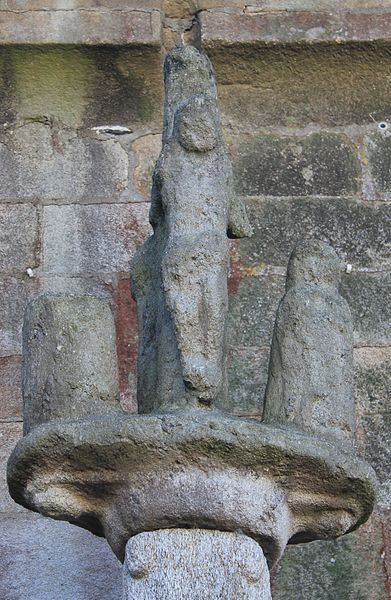 Église Sainte-Barbe (Moustoir-Ac): calvaire nord, détail