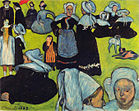 Émile Bernard 1888-08 - Breton Women in the Meadow (Le Pardon de Pont-Aven).jpg