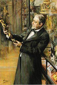 Émile Guimet in his museum, by Ferdinand Jean Luigini, 1898.jpg