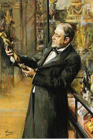 Émile Étienne Guimet - Émile Guimet in his Museum, by Ferdinand Jean Luigini, 1898