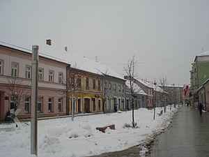 Čakovec, zimi - Ulica kralja Tomislava